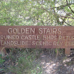Old sign fo golden stairs (7136)